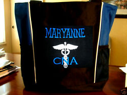 1 Tote SCHOOL Bag NURSE TEACHER GYM SPORT hospital medical school dr MA DO RN $24.97