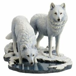 'winter Warriors' Wolves Statue By Lisa Parker