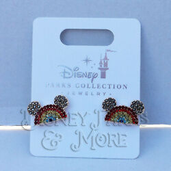 Disney Parks Rainbow Mickey Mouse Gay Pride Collection Earrings