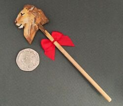 Dolls House Lion Hobby Horse Hand Painted And Cut Canis Minor Miniatures Toy Ooak