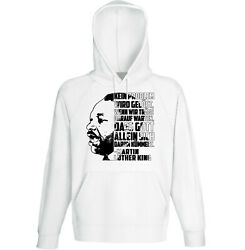 Martin Luther King Kein Problem - NEW COTTON WHITE HOODIE