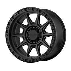 18x9 American Racing AR202 Cast Iron Black Wheels 6x4.5 (0mm) Set of 4