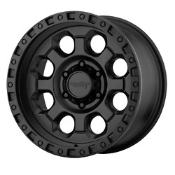18x9 American Racing AR201 Cast Iron Black Wheels 5x4.5 (0mm) Set of 4