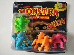 MIMP Series 2 Monster In My Pocket 4 Pack Mini Figure Neon 1991 Matchbox Rare #7