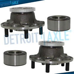 Fit Acura Tl Honda Accord W/abs 4pc Front Rear Wheel Hub And Bearing