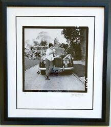 Keith Richards Mankowitz Rolling Stones 24x20 Signed Numbered Framed Blue Lena