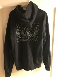 Black Bape College Pullover Hoodie Mens Large Gently Used Apes Together Strong