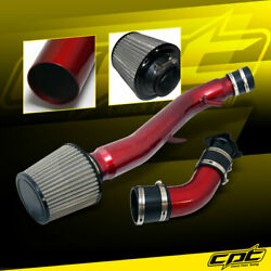 For 03-07 G35 3.5l V6 Automatic Red Cold Air Intake + Black Filter Cover