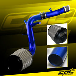 For 13-17 Veloster Turbo 1.6l 4cyl Blue Cold Air Intake + Black Filter Cover