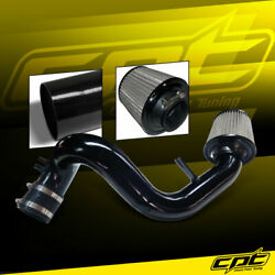 For 11-15 Optima 2.4l 4cyl Black Cold Air Intake + Black Filter Cover