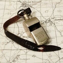 Original Ww1 1915 Trench Whistle With Strap Wwi War Army Military British