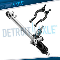 Power Steering Rack And Pinion + Outer Tie Rods For Chevy Trailblazer Gmc Envoy