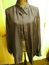 Authentic Gianni Versace Classic V2 Silk Menand039s Shirt . Italian Size Xl.