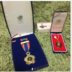 Seoul Olympic 1988 goods Medal and Key charm Limited product From Japan