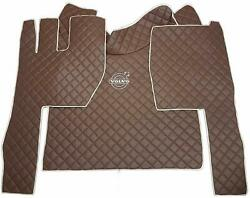 Set Floor Brown Mats Carpet Engine Cover Volvo Fh3 2004-2014 Truck Accessories