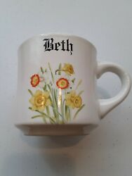 Papel Coffee Mug. Monogrammed For the Beth in your life $10.00