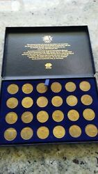 1984 Los Angeles Olympic Games Rapid Transit Set 24 Tokens In Case Sealed Coins