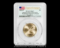 2018 P Innovation Patent Dollar Pos. A Pcgs Ms67 Fs -grade Rarity Now On Sale