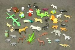 Mixed Lot Plastic Toy Animals Old Estate Find As Is Mix Jungle Farm Bag 1 Zm