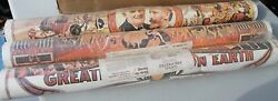 Vintage Barnum Bailey Circus Poster Wallpaper 3 Rolls By General Tire Pre Pasted