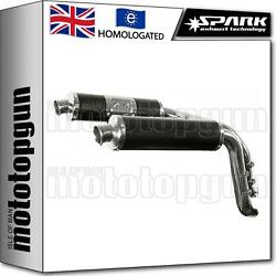 Spark 2 Exhaust High Approved Carbon Round Ducati Monster S2r 1000 2008 08
