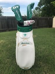 TAYLOR MADE MASTERS EDITION 2019 TOUR STAFF GOLF BAG WITH ALL 4 HEAD COVERS