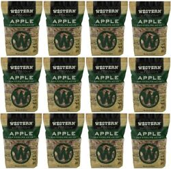 12 Bags Western 180 Cu In 2 Lb Apple Wood Smoking Bbq Chips