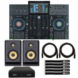 Denon Prime 4 4-deck Standalone Dj Controller System W 10 Touchscreen And Rp5g4