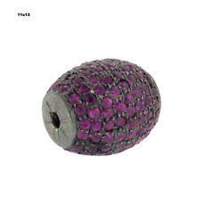 1.95 Ct Ruby 925 Sterling Silverandnbspindian Style Drum Bead Finding Jewelry