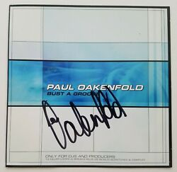 Paul Oakenfold Signed Bust A Groove Cd Booklet Dj Techno Edm Trance House Rad