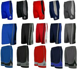 Reebok Men's Athletic Gym Basketball Training Drawstring Two-Tone Shorts $12.85