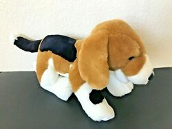 Build a Bear Brown Black White Puppy Dog Plush Beagle Animal 19quot; with collar