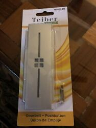 New Craftmade Led Illuminated Doorbell Silver Tiered Mission Rectangle Tb1030-bn