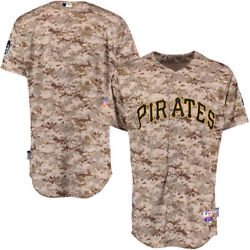 Pittsburgh Pirates Camo Jersey-mlb-majestic-all Sizes-sewn Letters-retail 99