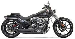 Bassani Pro-street Exhaust For 2008-17 Harley Softail/breakout - Black - 1s33db