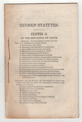 Laws Of Maine In Relation To The Education Of Youth. Rev. Statutes. May 3, 1842
