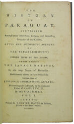 Charlevoix The History Of Paraguay. [two Volumes]. 1769. First English Edition