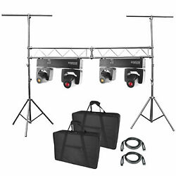 2 Chauvet Dj Intimidator Spot Duo 155 Dual Led Moving Heads + Truss System