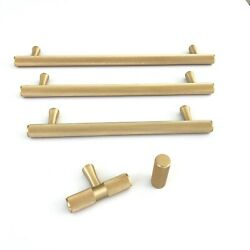 Solid Brushed Brass Texture Knurled Drawer Pulls And Knobs