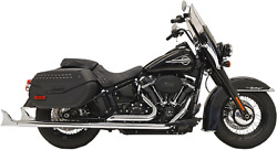 Bassani True Duals Exhaust For 2018-19 Harley Softail Models - Chrome - 1s86e-33