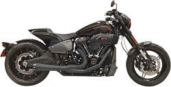 Bassani Road Rage Exhaust For 2018-19 Harley Softail Models - Black - 1s94rb