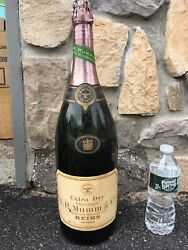 Rare Huge 1940's Mumm And Co Reims Champagne Display Bottle Glass Dummy Bottle