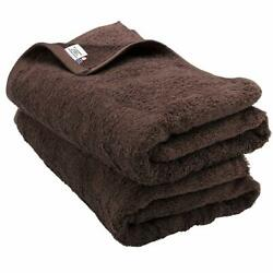 NEW Bloom Imabari Towel Bath Towel 2 Sheets Sanhokin Cotton (Brown) JAPAN