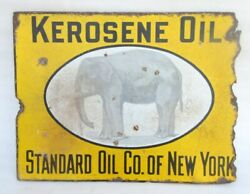 Vintage Standard Oil Co. Of New York Kerosene Oil Porcelain Enamel Sign Board