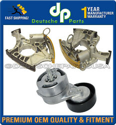 Audi A4 A6 Quattro Timing Chain Accessory Belt Tensioner Assembly Lh + Rh Set 3