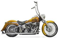 Bassani True Duals Exhaust For 2007-17 Harley Softail Models - Chrome - 1s26e-30