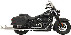 Bassani True Duals Exhaust For 2018-19 Harley Softail Models - Chrome - 1s86e-39
