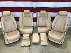 2009 Maserati Quattroporte Beige Leather Seat Set (Front/Rear) OEM Heated/Cooled