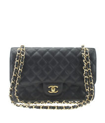 Chanel Jumbo Caviar Double Flap Black Caviar Quilted Leather Bag