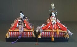 Fine Japanese Meiji Period Emperor And Empress Dolls On Stand
